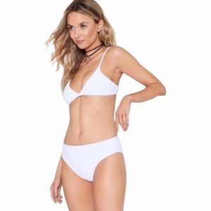 NG WHITE HIGH WAIST ALINA BIKINI BOTTOMS
